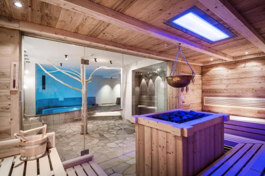 The sauna at the Hotel Kolfuschgerhof. Book your stay at the Kolfuschgerhof here. Planning your summer in the mountains of Alta Badia.