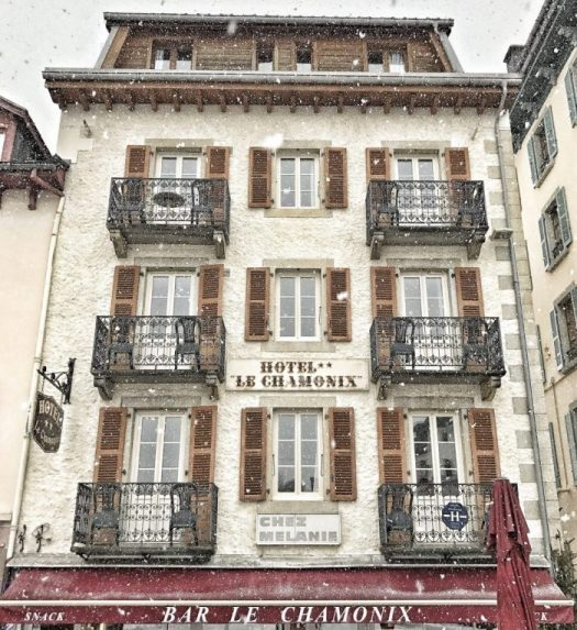Hotel Le Chamonix. Example of architecture in the town of Chamonix. Photo: Salome Abrial. OT Vallée de Chamonix. Must-Read guide to Chamonix.