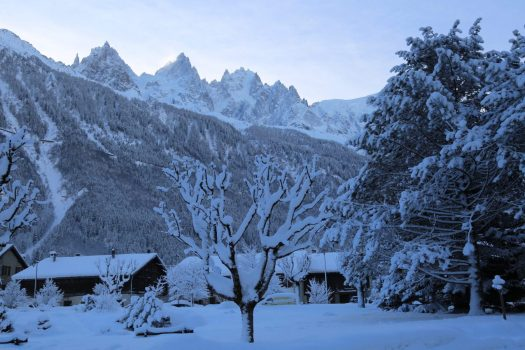 Les Praz de Chamonix in winter. Photo: Celia Margerard. OT Vallée de Chamonix. Must-Read Guide to Chamonix.
