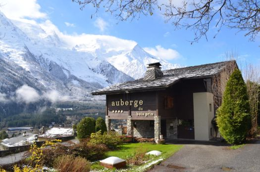 Exterior of L'Auberge du Bois Prin. Must-Read guide to Chamonix.