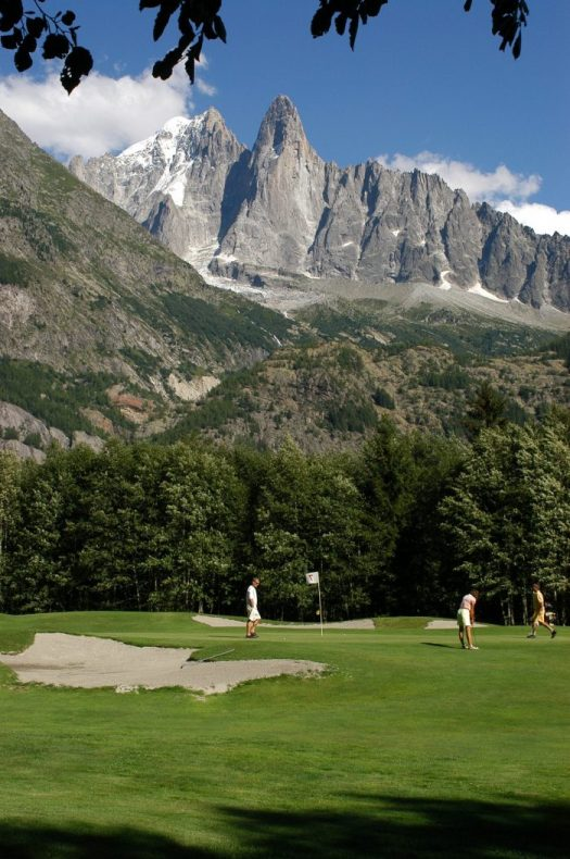 Golf country club at Chamonix valley. Photo: Golf de Chamonix. Must-Read Guide to Chamonix.