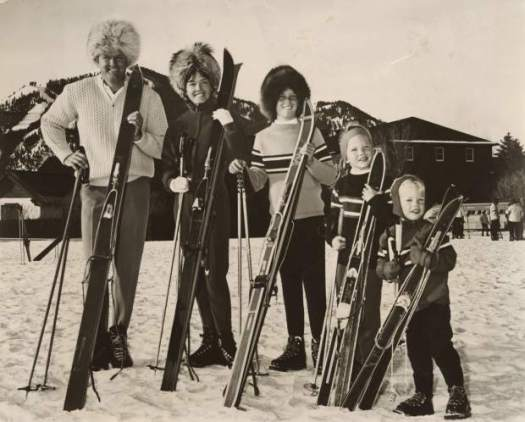 Warren Miller with his second wife and three kids. Ski Bum- The Warren Miller Story- A Review.
