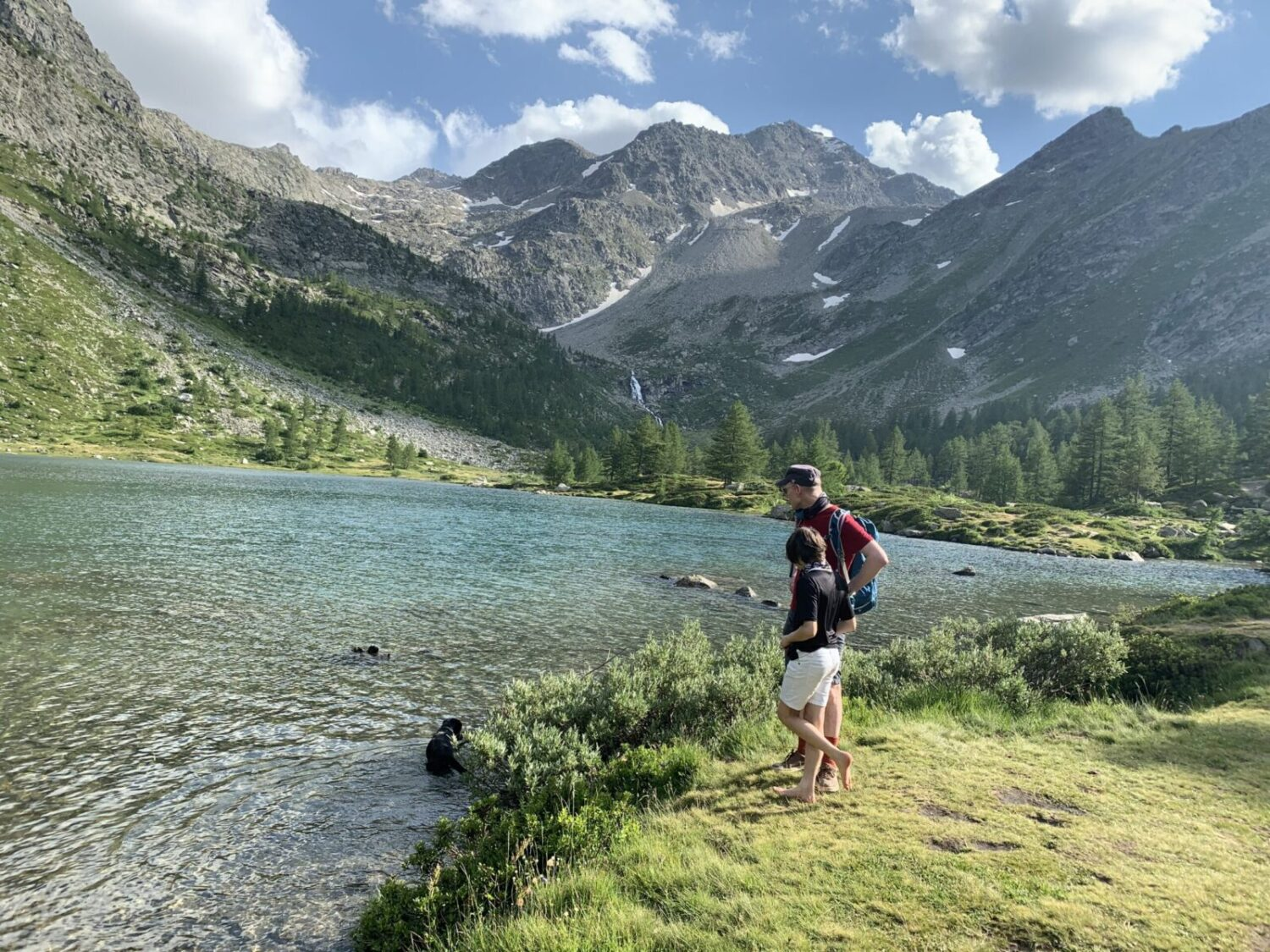 We finally arrived at Lago d'Arpy. Photo: The-Ski-Guru. Family trek to Lago d' Arpy, Morgex, AO.