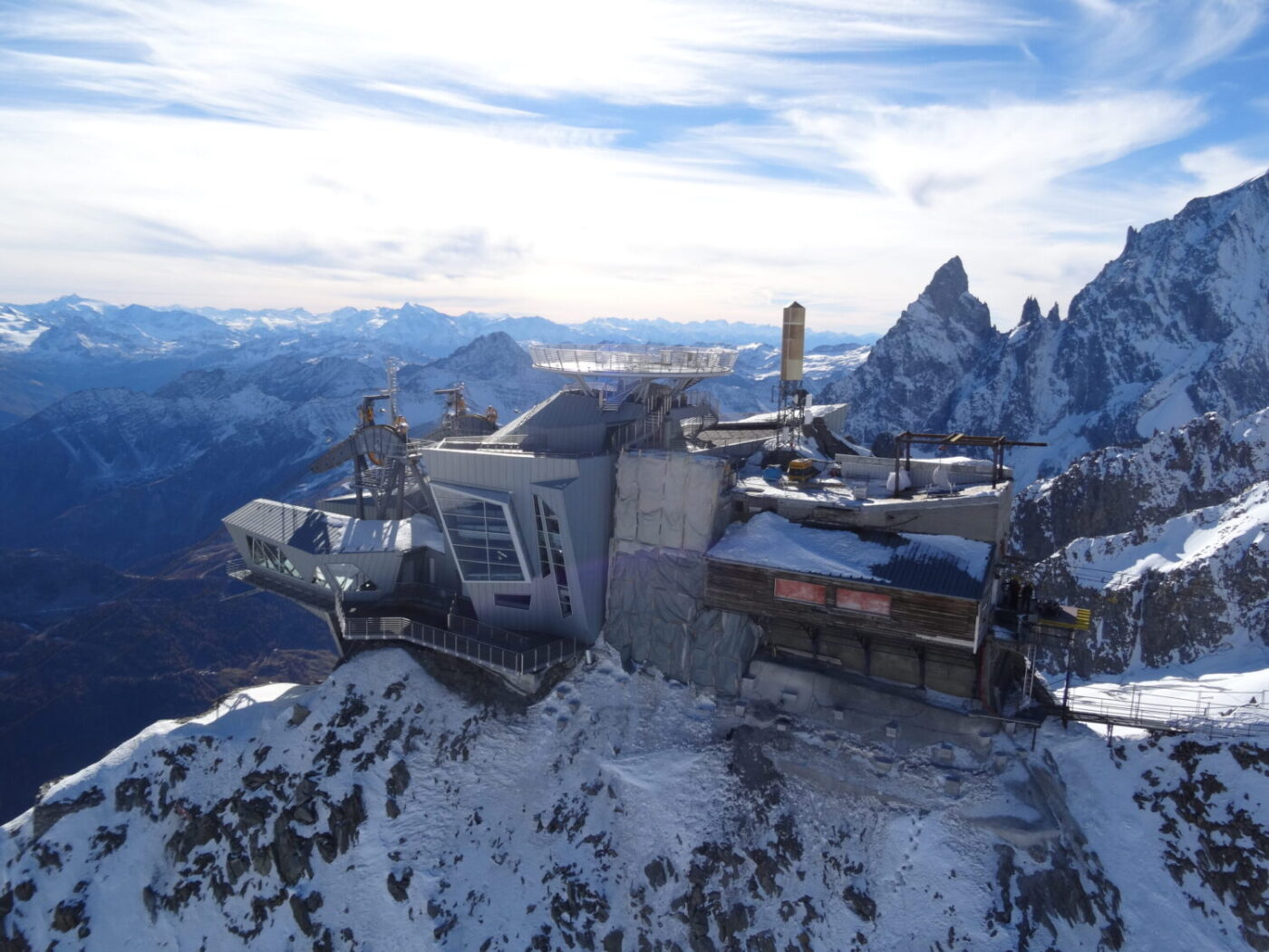 Skyway Monte Bianco. Photo: Skyway Monte Bianco- Courmayeur Mont Blanc. Skyway Monte Bianco. Courmayeur Mont Blanc announces new sustainability strategy to 'save the glacier'