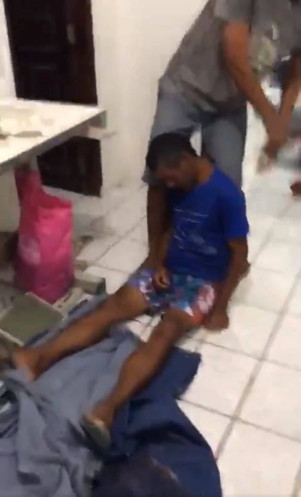A man was left unconscious after unknowingly taking part in the disgusting trend
