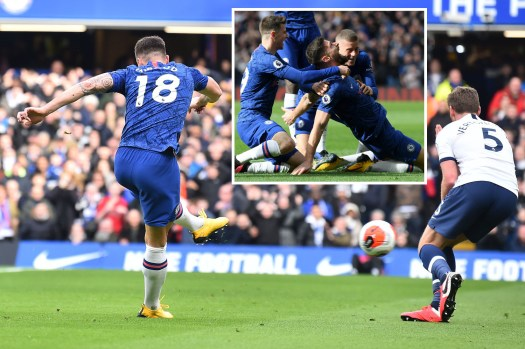 Chelsea 2-1 Tottenham LIVE RESULT: Giroud and Alonso ...