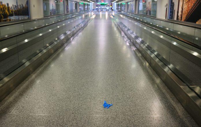 JFK Airport is almost empty last week