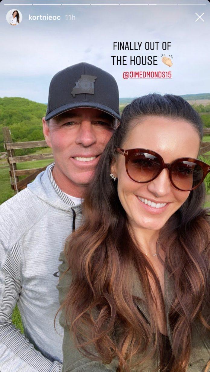 Jim's new girlfriend, Kortnie, now lives with him