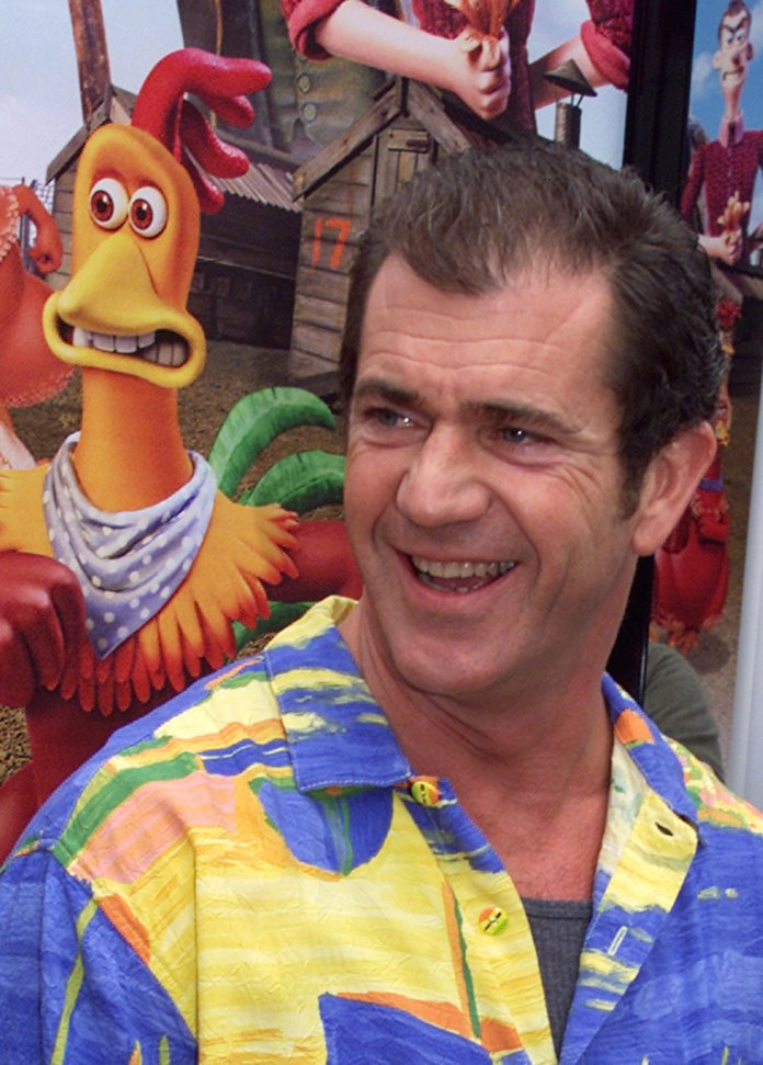 Mel Gibson voiced the character of Rocky the rooster, in the clay animation comedy film, Chicken Run