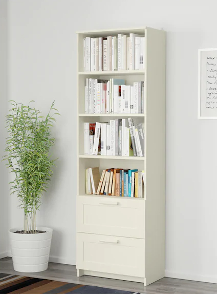 Here we see the Brimnes library from Ikea