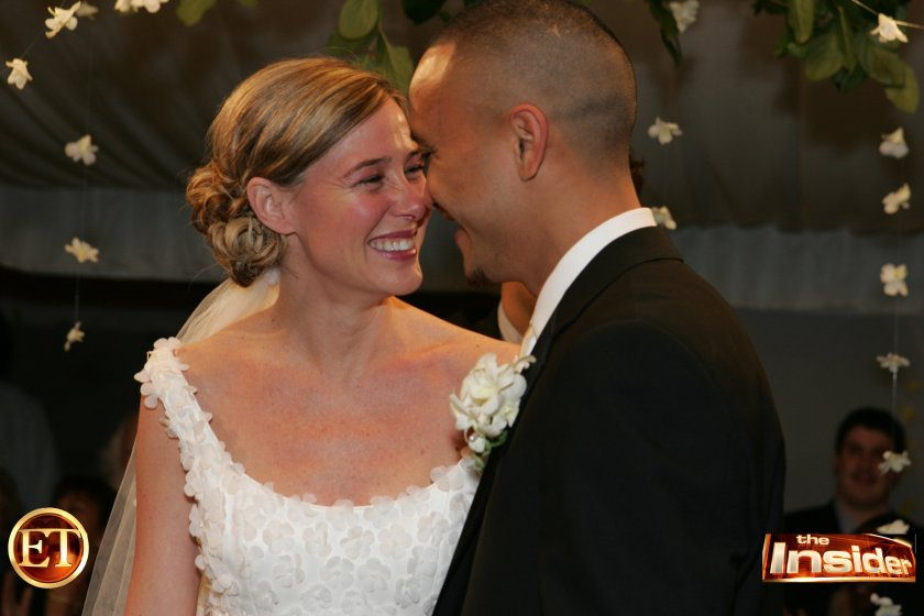 The couple is seen here during their wedding in Washington in 2005