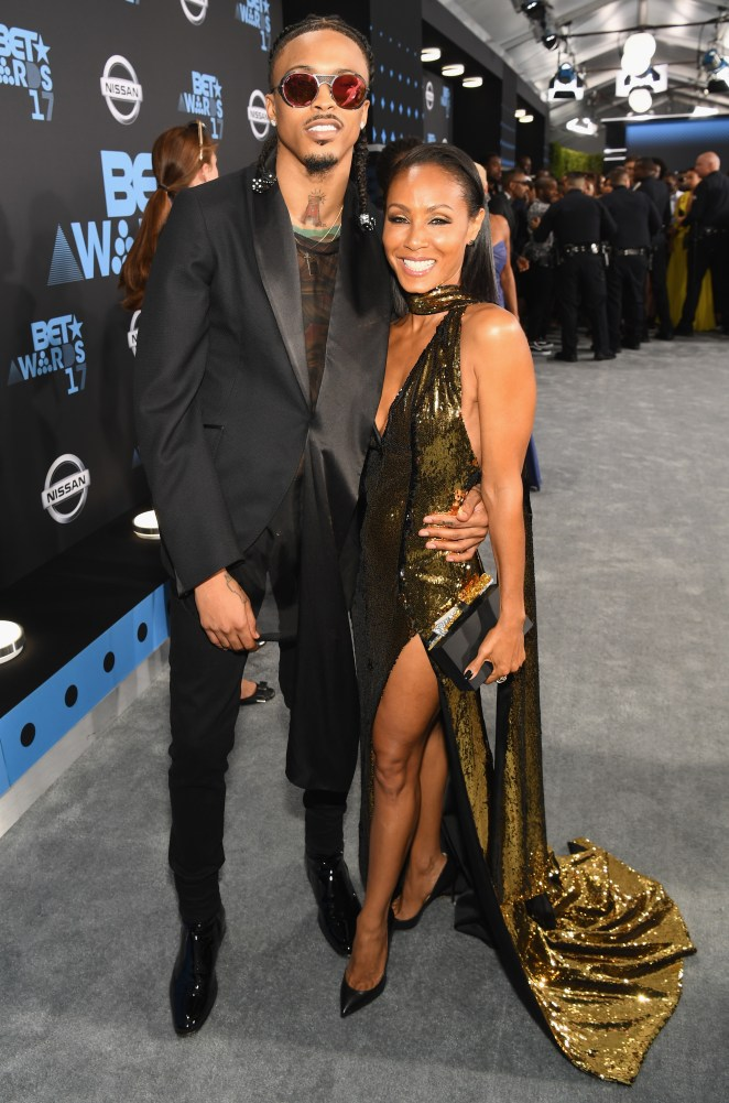 August and Jada are seen together on the red carpet in 2017