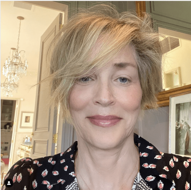 Sharon wowed people with her new haircut recently