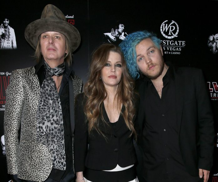Ben, seen here with his mum and dad Danny Keough and Lisa Marie Presley