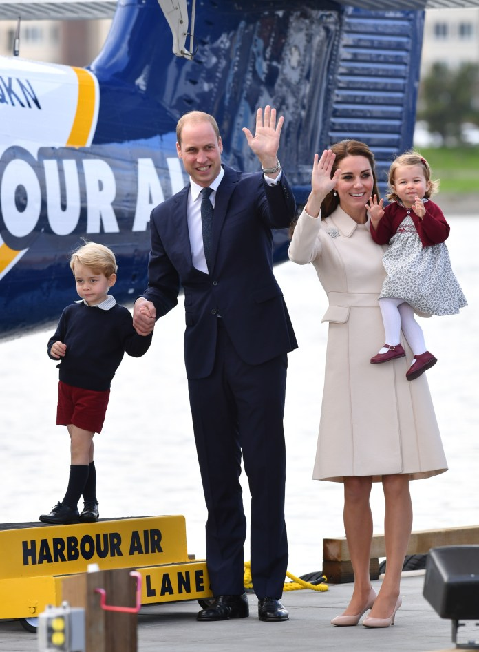 Prince William, Duchess Kate Middleton and their three children arrived at the castle on Friday