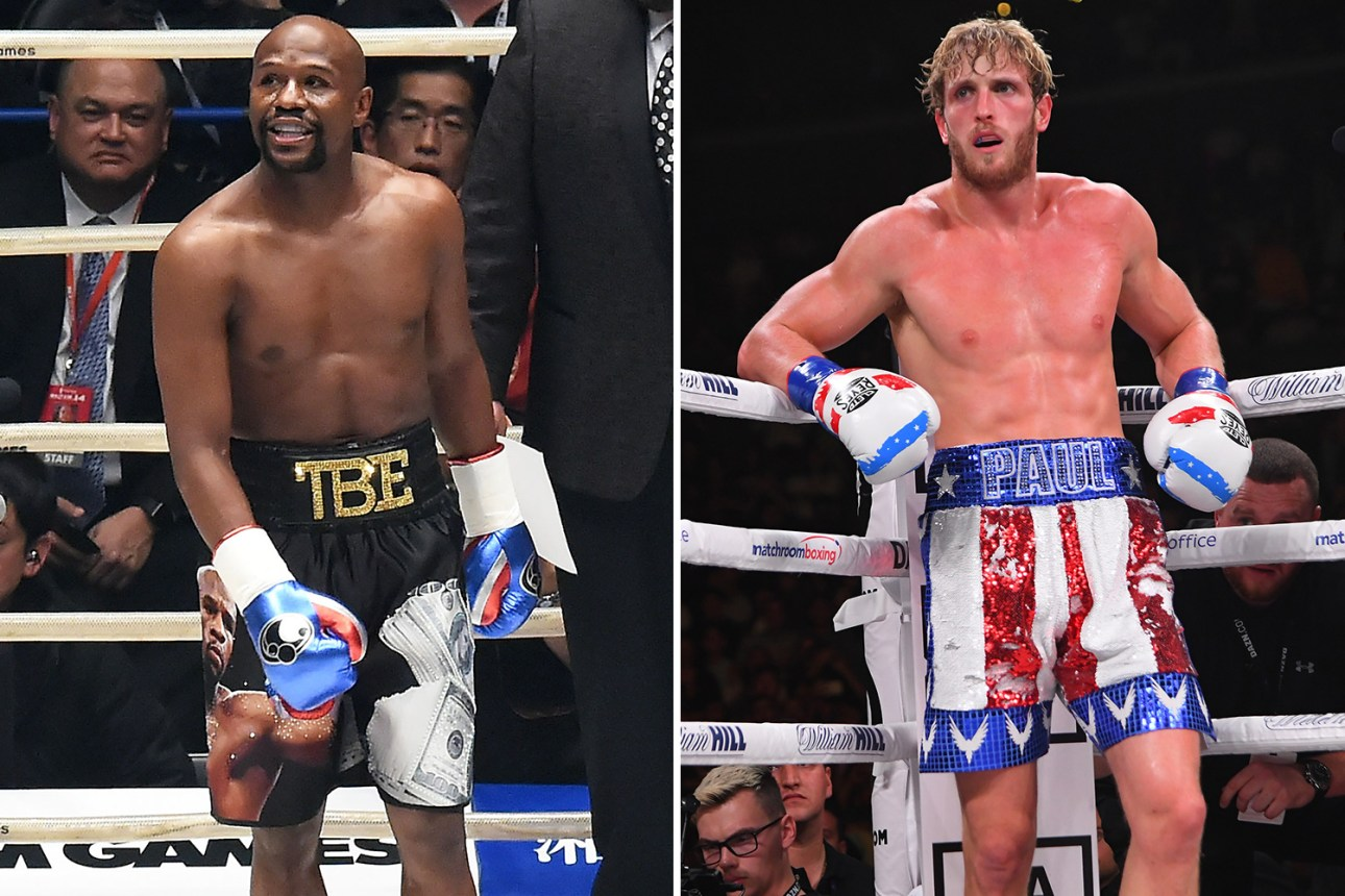 Floyd Mayweather showed a video of the training process before the fight with Logan Paul