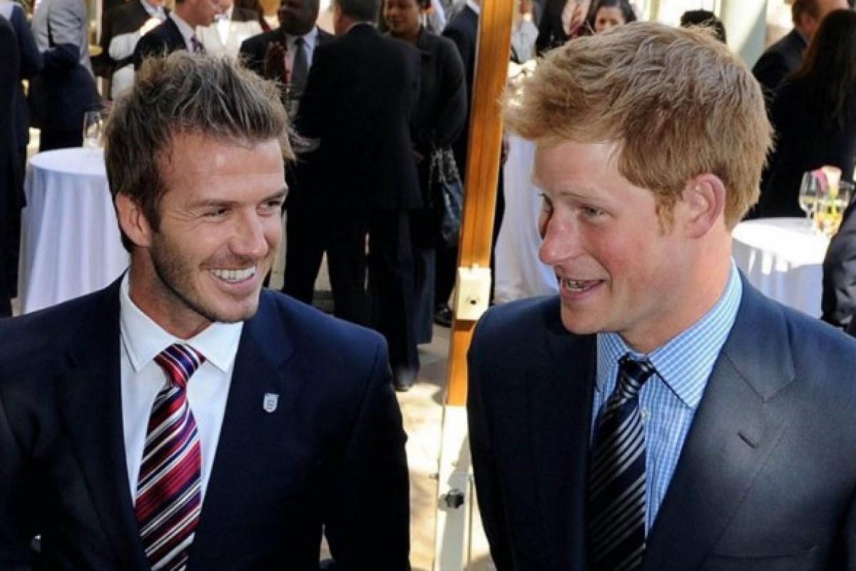 David Beckham wishes pal Prince Harry a happy...