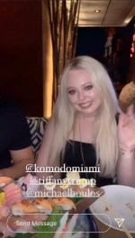 Tiffany Trump celebrates in Miami ahead of 27th birthday with sushi, Dom Perignon and American flags