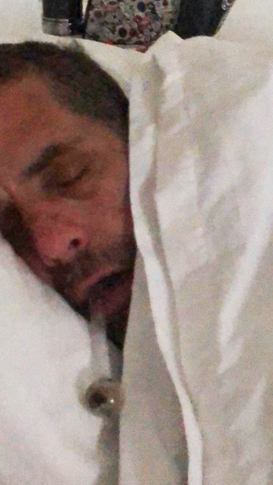 Photographs have previously emerged of Hunter Biden in bed with a pipe