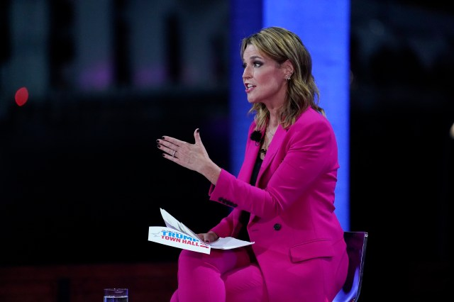 Savannah Guthrie quizzed the President on his apparent endorsement of conspiracy theories