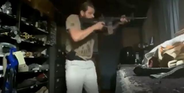 Footage shows the militia members practicing reloading their weapons