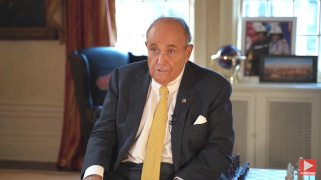Giuliani has been open about his contact with Derkach