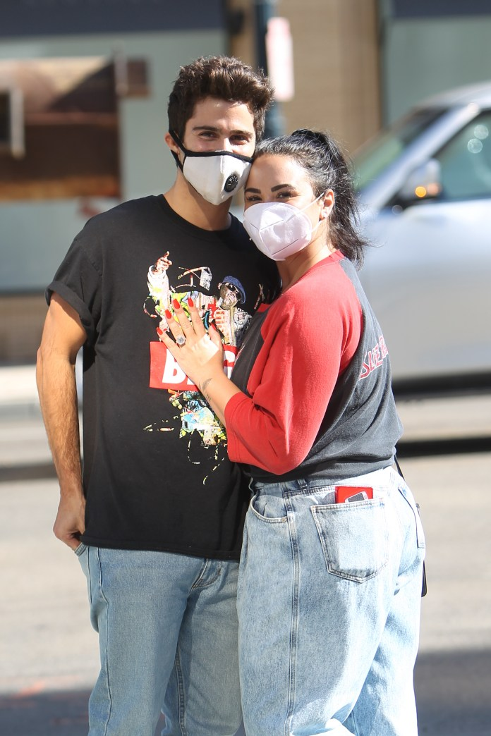 Demi y Max puestos en cuarentena juntos durante la pandemia en su casa de Los Ángeles