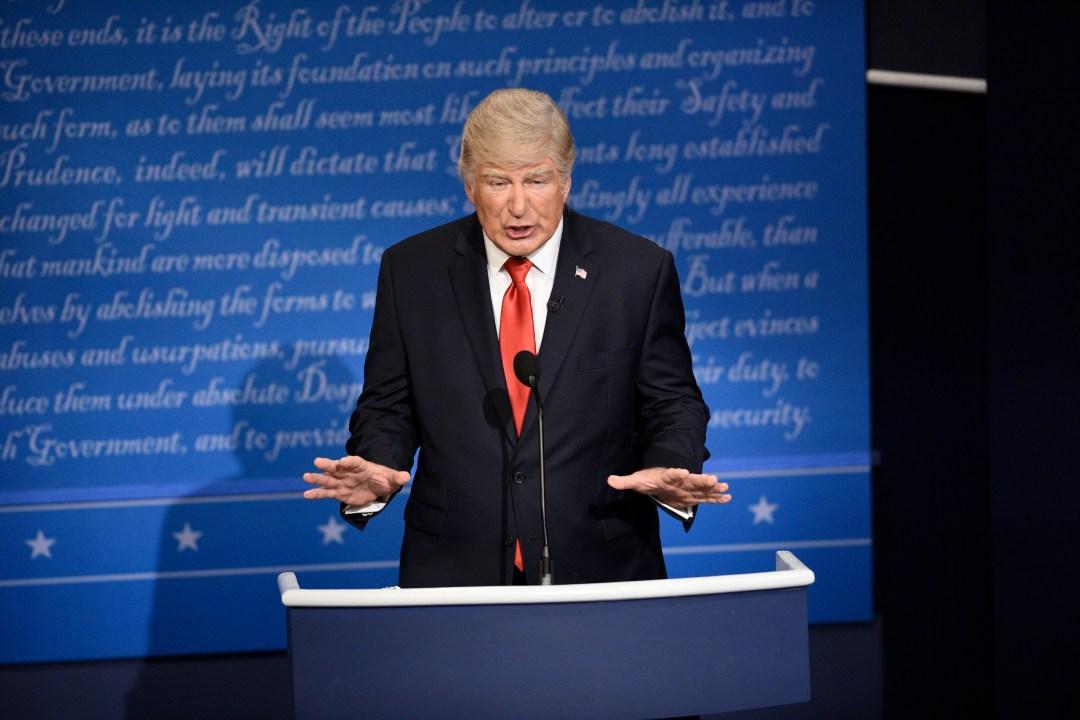 Baldwin played Donald Trump on Saturday Night Live
