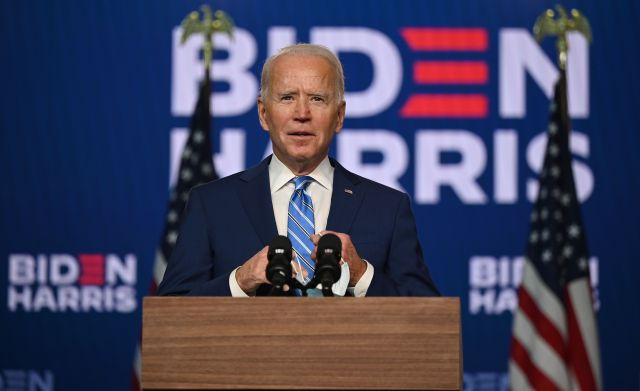 Biden spoke to reporters on Wednesday