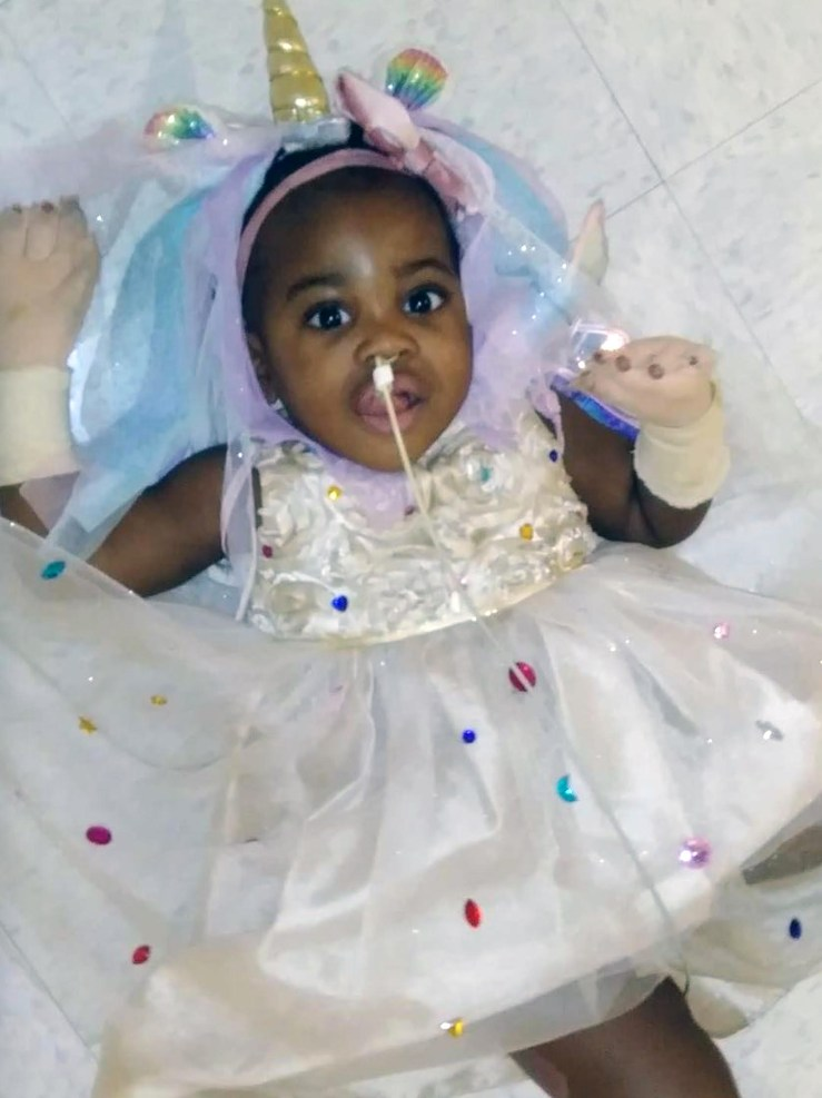 Leah was discharged from the hospital four months after the incident