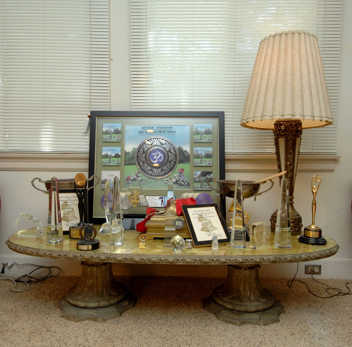 Pictured here are some of the many awards given to the Grammy-winning producer and songwriter during his career