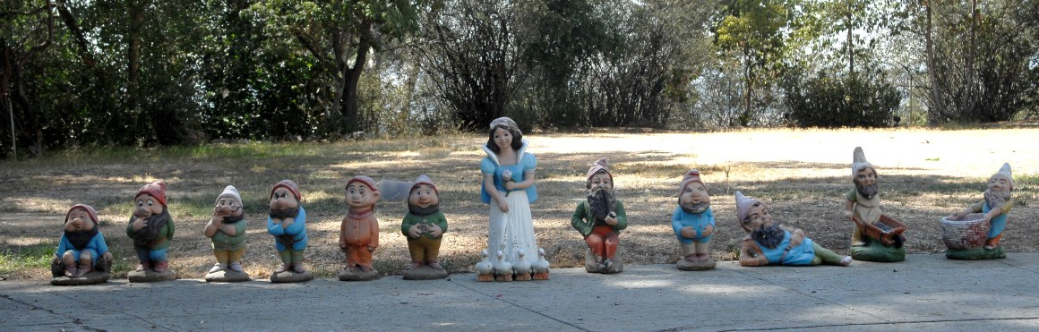Pictured are Snow White and the Seven Dwarfs figures made of pottery - a favourite of Phil Spector