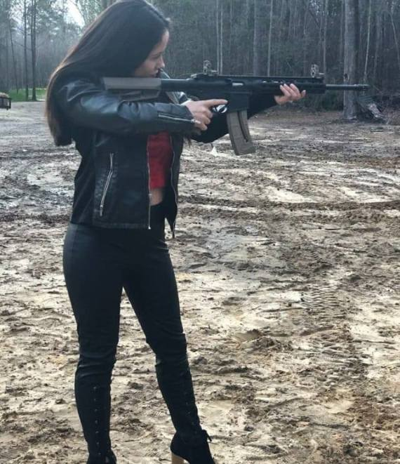 Jenelle has shared photos with a gun as well