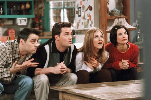Matt LeBlanc, Matthew Perry, Jennifer Aniston,and Courteney Cox on Friends