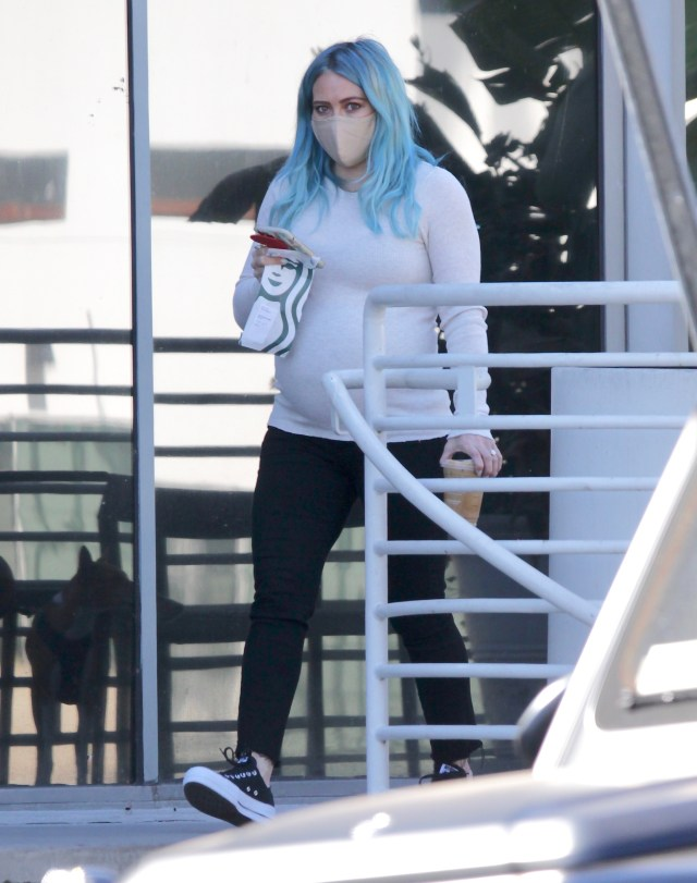 Fans have speculated her new blue hair means she's expecting a boy