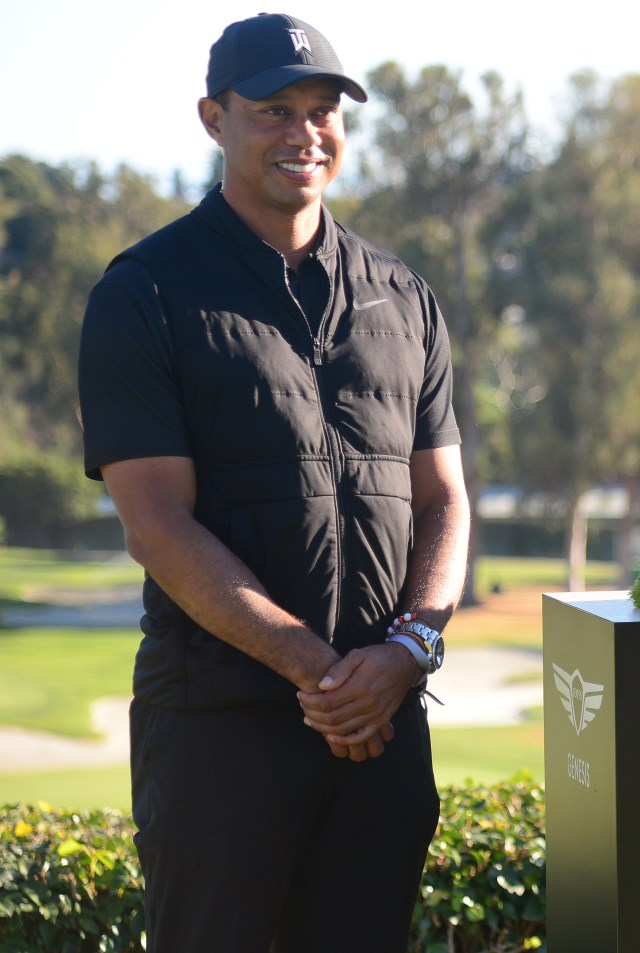 Tiger Woods in attendance during the final round of The Genesis Invitational golf tournament at Riviera Country Club