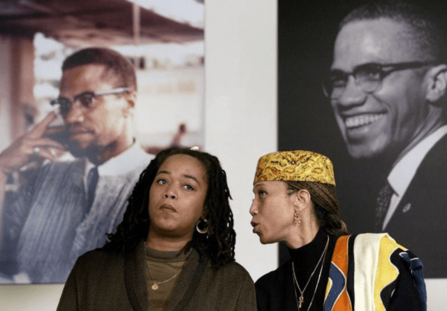Attallah Shabazz (right) and Malaak Shabazz, two of the six daughters of the late Malcolm X and Betty Shabazz