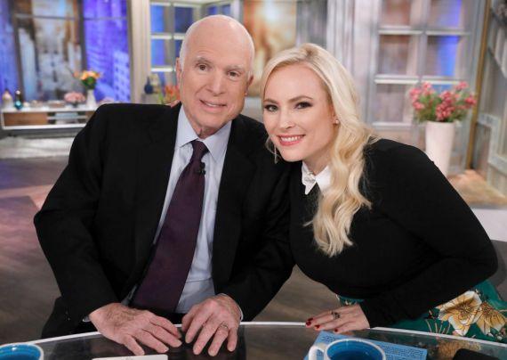Meghan's dad John McCain passed away in 2018