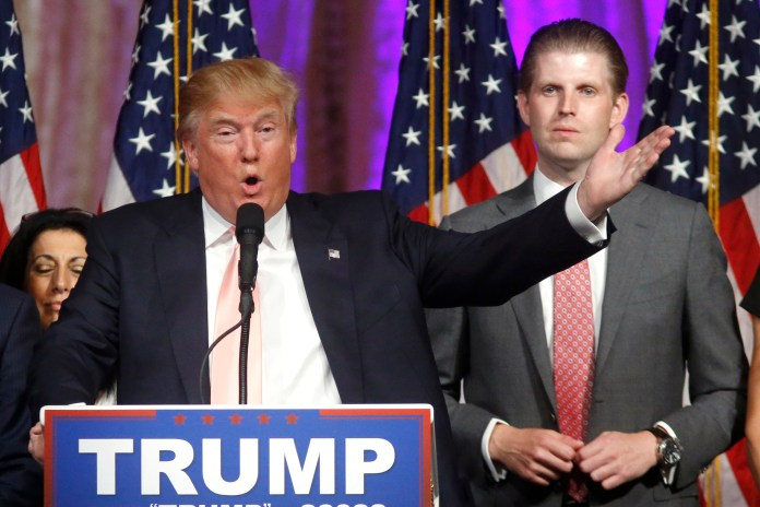 Eric Trump told Fox News that 'a lot of people in this country are sick and tired of the unequal scales of justice'