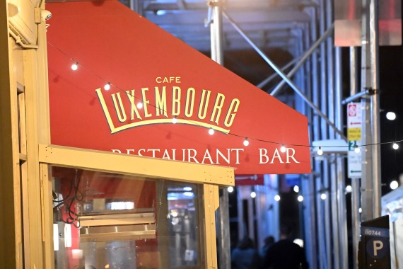 The couple were seen dining at Cafe Luxembourg until 11pm