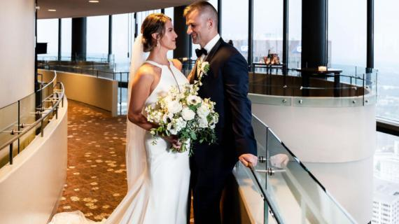 Haley and Jacob tie the knot - as they meet for the first time
