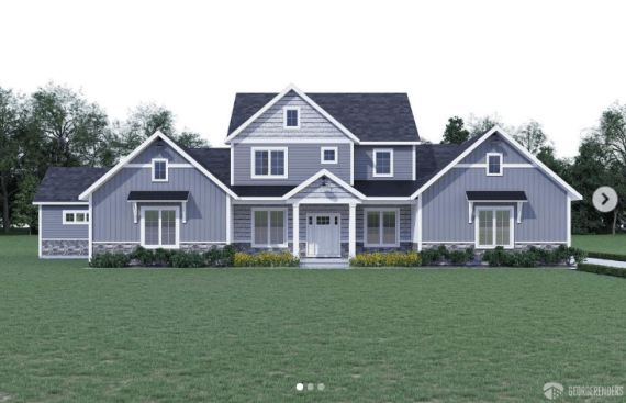 The six-bedroom home is being built in Delaware
