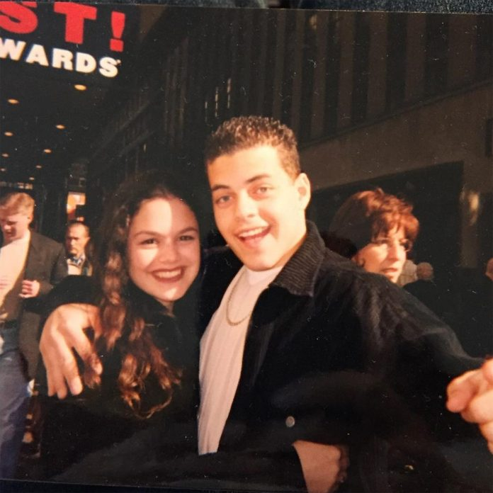 The two were 'good friends' in high school, and she shared a photo of them on a New York trip