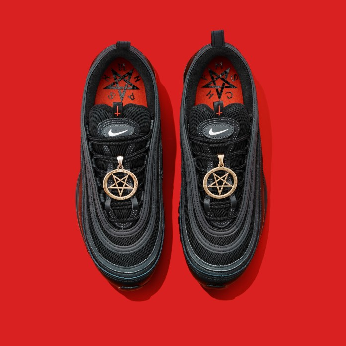 The specialty Nike Air Max '97's contain 60cc ink and 1 drop of human blood