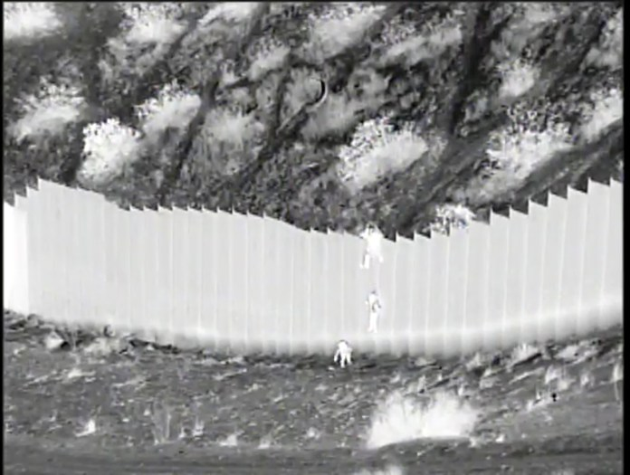 Shocking video showed the little girls being dropped over the US-Mexico border fence
