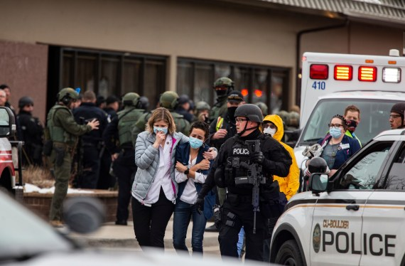 The Boulder shooting took place at a King Soopers grocery store on March 22
