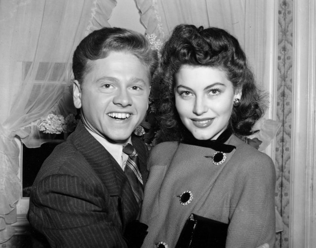 She also had an affair with Mickey Rooney, who would come see her shows with his wife