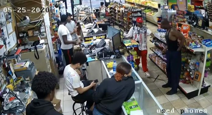 Surveillance footage shows Floyd with Morries Lester Hall inside a store before he was killed