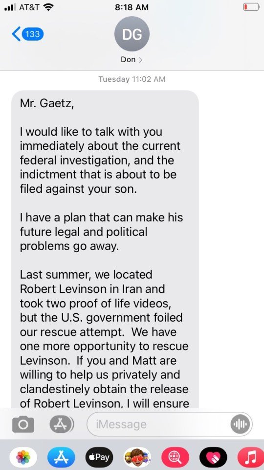The alleged message supposedly sent by Bob Kent outlined a deal