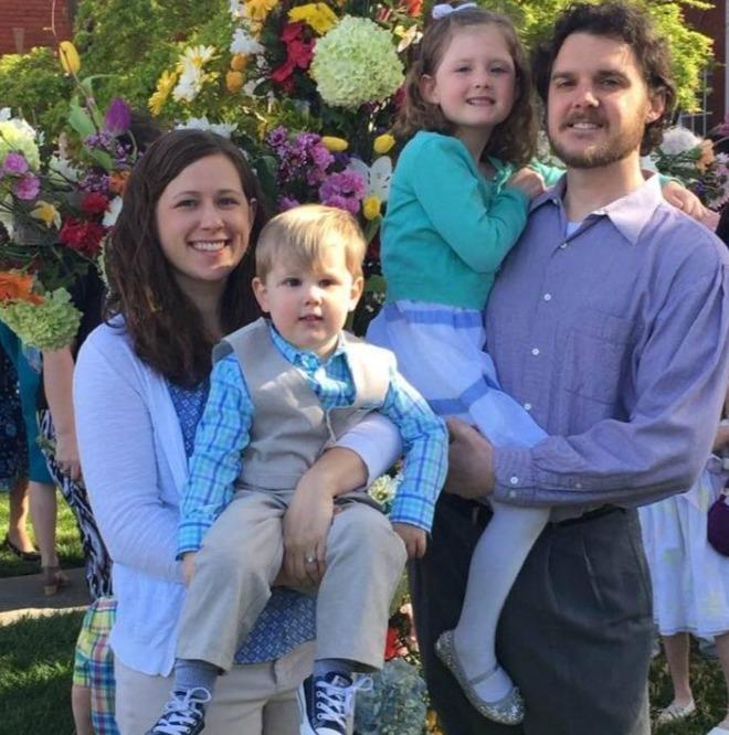 Adah, 9, and Noah, 5, were children of Dr Lesslie's son, Jeff